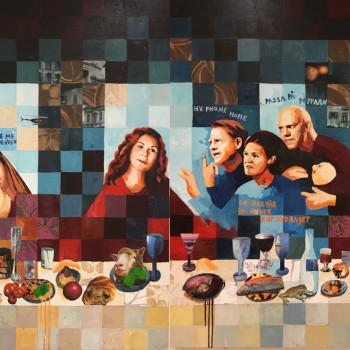 Målning till Resturang YOLO i Djursholm