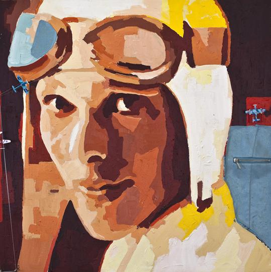 Amelia Earhart porträtt Catrine Näsmark