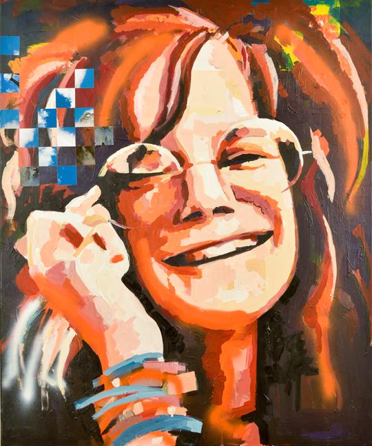 Behind Bars portrait Janis Joplin by Catrine Näsmark