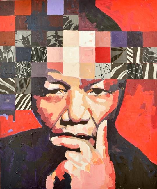 Nelson Mandela Porträtt Catrine Näsmark