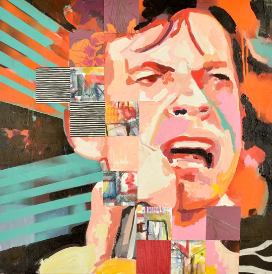 Mick Jagger porträtt av Catrine Näsmark