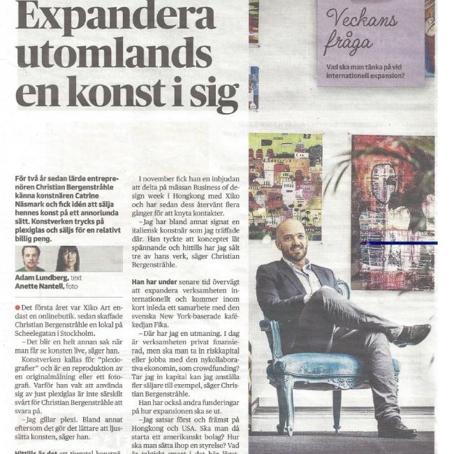 Dagens Nyheter Catrine Näsmark och Christian Bergenstråhle, XIKO