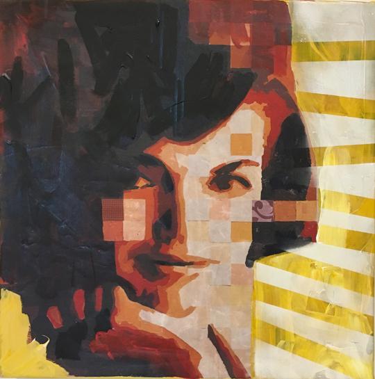 Jackie Kennedy portrait art Catrine Näsmark