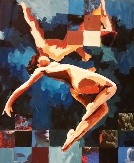Floating Nude Art Catrine Näsmark